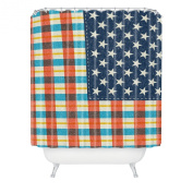DENY Designs Nick Nelson Plaid Flag Shower Curtain, 180cm by 180cm