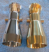 Jet Low Flow Brass Shower Head - Polished Brass