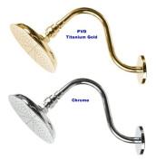 Tropic Rain Shower Head Set - PVD Titanium Gold