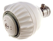 Shower Pro Massage ON/OFF Showerhead White 1.5 with pressure compensating flow controller, Super low flow 1.5gpm