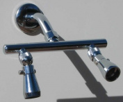 Dual Showerhead Bar with Jet Shower Heads - Polished Brass