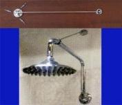Shower Head Support Bracket - Brushed Nickel Finish
