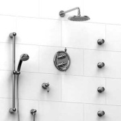 Riobel Romance KIT#4ROLCW Thermostatic Shower System with Jets Chrome x White Lever