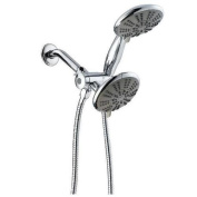 Ana Bath SS5450CCP 13cm 5 Function Handheld Shower and Showerhead Combo Shower System, Chrome Plated Finish