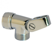LASCO 08-2419 Personal Shower Swivel Connector with Hose to Hand Held Shower Head, Chrome Plated Brass