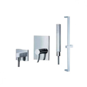 Fluid Faucets F1354-T Sublime Hand shower with Slide Bar, Chrome, 1-Pack