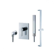 Fluid Faucets F2854-T Wisdom Hand shower with Slide Bar, Chrome, 1-Pack
