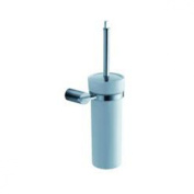 Fluid Faucets FA16031 Toucan Wall-Mounted Ceramic Toilet Brush and Holder, Chrome, 1-Pack