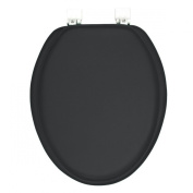 GINSEY CLASSIQUE ELONGATED CUSHION SOFT PADDED TOILET SEAT - BLACK