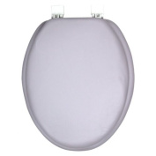 GINSEY CLASSIQUE ELONGATED CUSHION SOFT PADDED TOILET SEAT - SILVER GREY