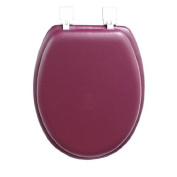 GINSEY CLASSIQUE ELONGATED CUSHION SOFT PADDED TOILET SEAT - BURGUNDY