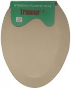 Trimmer Beige Hygenic Plastic Toilet Seat For Elongated Toilets.