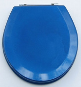 Trimmer Premium Metallic Blue Wood Toilet Wood Seat.