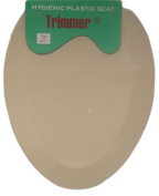 Trimmer Beige Hygenic Plastic Toilet Seat.