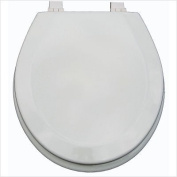 Trimmer Premium Metallic Beige Wood Toilet Wood Seat.