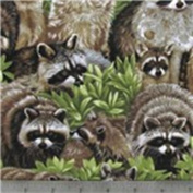 NEW TOILET SEAT LID COVER MADE FROM Adorable Playing Raccoons FABRIC