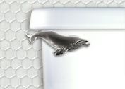 Humpback Wale Toilet Flush Handle - Front Mount - Satin Pewter