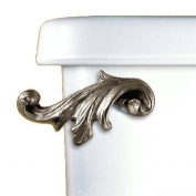 Acanthus Leaf Toilet Flush Handle - Satin Pewter - Front Tank Mount