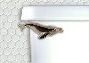 Humpback Wale Toilet Flush Handle - Front Mount - Chrome
