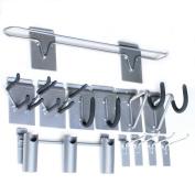 Proslat 11005 Sports Equipment Hook Variety Kit Designed for Proslat PVC Slatwall, Steel, 12-Piece