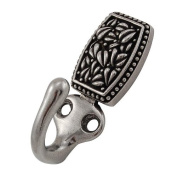 Vicenza Designs H5010 San Michele Rectangle Hook, Vintage Pewter