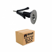 WingIts MAWHP35B100 Master Anchor with Stainless Steel Hook Plate, Bulk Pack, 100-Pack