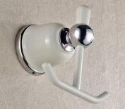 MKL Bathroom Robe Hook in white+chrome #MKL02C