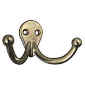 Nickel Plated Double Clothes Hook