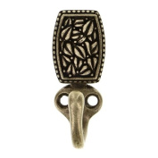 Vicenza Designs H5010 San Michele Rectangle Hook, Antique Brass