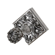 Vicenza Designs PO9001 Sforza Robe Hook, Large, Antique Silver