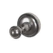 Vicenza Designs PO9006 Sanzio Robe Hook, Large, Antique Silver