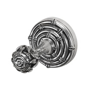 Vicenza Designs PO9007 Palmaria Bamboo Robe Hook, Large, Antique Silver