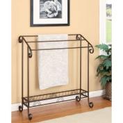 Coaster Home Furnishings 900833 Freestanding Towel Rack, Dark Bronze Finish