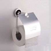 Housweety New Aluminium Wall-mounted Toilet Roll Holders Toilet Paper Storage With Cover