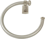 Atlas Homewares LGTR-BRN Legacy Collection 20cm Towel Ring, Brushed Nickel