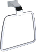 Dowell Solid Brass Towel Ring, Chrome Finish