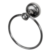Vicenza Designs TR9006 Sanzio Towel Ring, Antique Silver