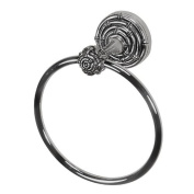 Vicenza Designs TR9007 Palmaria Towel Ring, Bamboo, Antique Silver