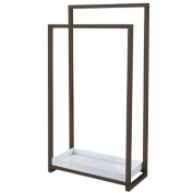 Kingston Brass SCC8265 Pedestal 2-Tier Steel Construction Towel Rack with Wooden Case, Oil Rubbed Bronze