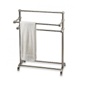 The Classic 3-tier Satin Nickel Towel Stand