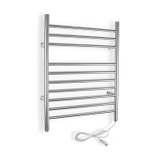 WarmlyYours TW-F10BS-PL Infinity Plug-In Brushed Stainless Steel Towel Warmer