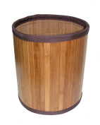 Ginsey Home Solutions Ginsey Home Solutions Bamboo Basket Dark W/Brn Trim