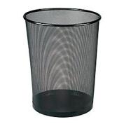 Office Depot(R) Brand Metro Mesh Wire Wastebasket, Black