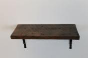 Reclaimed, Wood Shelf, Pine, 46cm x 20cm x 2.5cm , with Brackets, Antique, Vintage