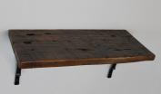 Reclaimed, Wood Shelf, Pine, 60cm x 20cm x 2.5cm , with Brackets