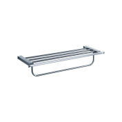 Fluid Faucets FA14042 Emperor Wall-Mounted Towel Bar with Shelf, Chrome, 1-Pack