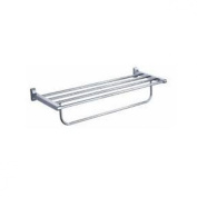 Fluid Faucets FA20042 Penguin Wall-Mounted Towel Bar with Shelf, Chrome, 1-Pack