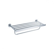 Fluid Faucets FA21042 Jovian Wall-Mounted Towel Bar with Shelf, Chrome, 1-Pack