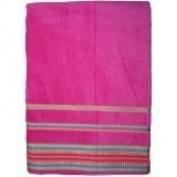 Velour Oversized 100cm x 180cm KING SIZE - Beach Towels. - FUCHSIA