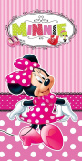 Disney Beach Towel Minnie Mouse Pink Bath Towel 100% Cotton